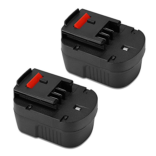 Black & Decker 12v Battery - POWERAXIS 2-Pack 12V HPB12 Replacement Battery for Black & Decker HPB12 Power Pack 12V A1712 FS120B FSB12 HPB12 A12 A12-XJ A12EX Firestorm FS120B FS120BX Black and Decker 12v Battery (Black)