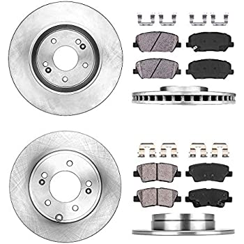 Front And Rear Brake Rotors /& Ceramic Pads For 2013 2014 2015 KIA Optima