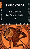 Thucydide, Guerre Du Peloponnese. Tome II: Livres III, IV, V (Classiques En Poche) (French and Ancient Greek Edition)