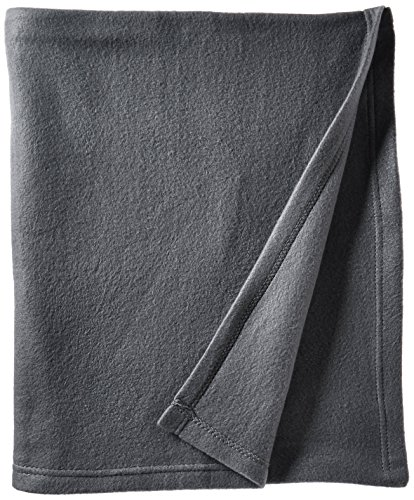 World's Best Cozy-Soft Microfleece Travel Blanket, Charcoal