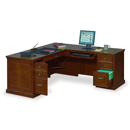 best cheap 063a2 d9f12 Amazon.com : Executive L-Shaped Desk with Right Return - 69 ...