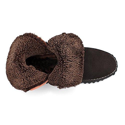 Chaussures Les Tube Des Pour Tide black Martin De Chaussures Souliers Zipper Et KHSKX Daim Bottes Chauds Hautes Hommes En Bottes Court Korean Hiver AYwCFqd