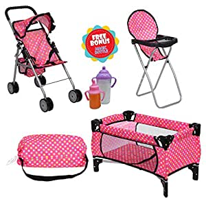 Amazon.com: Exquisite Buggy Doll Play Set 3 in 1 Doll Set ...