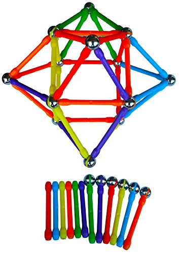 (Magziod 48 magnetic building set with No Loose Balls! Offered exclusively by MAGZ)