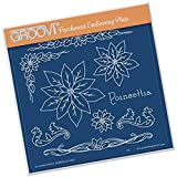 GROOVI Jayne's Poinsettia Name Plate A5 Square, GRO40388