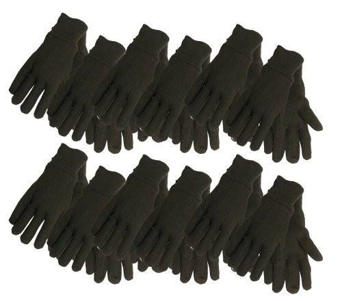 Cotton Jersey Work Gloves , 7792P12, Size: Large, Brown, by Midwest Gloves & Gear