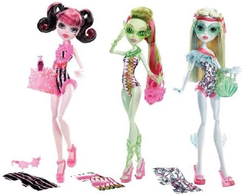 Monster High 2013 Swimsuit Edition Doll Figure Set with Draculaura , Lagoona Blue , and Venus McFlytrap (Limited)