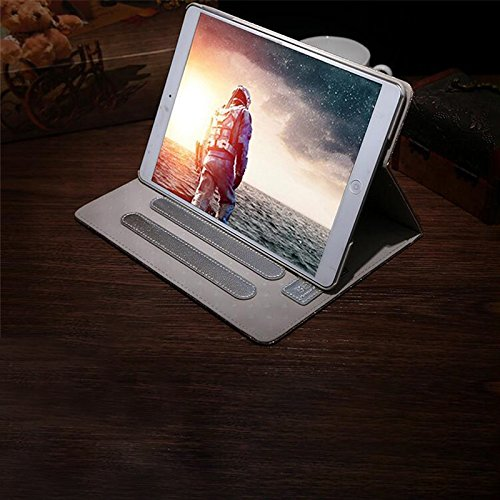 ONEVER Caso del soporte de la placa de ojos grandes de oro Mini iPad 1 2 3 cubierta de la tableta brillantes de lujo de cuero de la PU