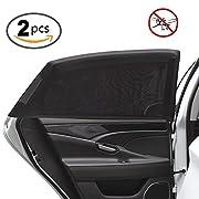 Uarter Universal Car Side Window Baby Kid Pet Breathable Sun Shade Mesh Backseat (2 Pcs) Fits Most Cars/SUVs
