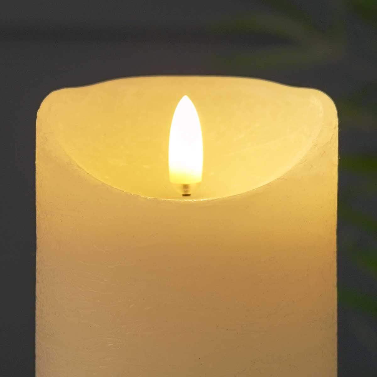 Bougie Grise Bougeoir Verre, S Bougie LED /«Flamme Authentique/» Effet Vacillant Bluffant Ivoire Gamme 2019 M/èche Effet 3D Ultra R/éaliste Gris ou Pot en Verre Teint/é Au Choix