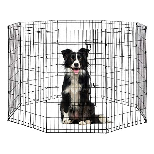 48 Tall Dog Playpen Crate Fence Pet Play Pen Exercise Cage -8 Pane from BestPet