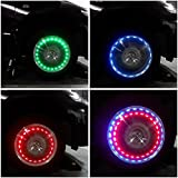 1pcs Solar Power Car/ Bike/ Motorcycle Colorful LED Flash Wheel Tyre Tire Lamp Decorate Light Cap