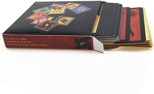 KINGFTEO Juego de Mesa de Hombre Lobo versión Completa Versión en inglés reunión Familiar Juego de póker Familiar para recaudar Fondos para Adultos 24 Cartas | Juegos de Mesa: Amazon.es: Hogar