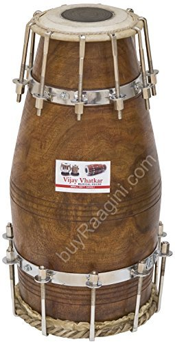 Vhatkar Naal Drum, Concert Quality, Natural, Bolt-tuned, Comes with Padded Bag, Dholak/Dholki/Naal (PDI-DII) ()