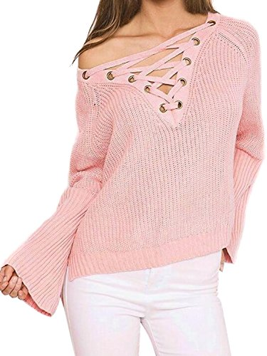 Joeoy Womens Sleeve Dipped Sweater product image
