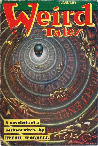 Weird Tales 1953 Vol. 44 # 8 January: Once There Was Little Girl, Phantom Soldier at Ticonderoga, I Can't Wear White, Gloves, Werewolf of Ponkert, Wet Straw, Red Ghosts in Kentucky (verse), Sexton Sexton in Wall, Six Feet of Willow Green, Hand of Death