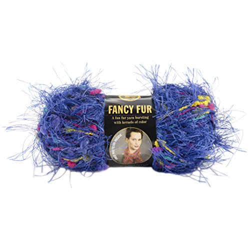 Skeins Lion Fancy Fur Yarn - Fancy Fur Yarn-Brilliant Blue