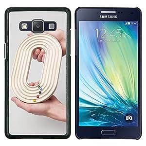 YiPhone /// Prima de resorte delgada de la cubierta del caso de Shell Armor - Diseño O 0 Cero Juego Gris Raza Profundo - Samsung Galaxy A5 A5000