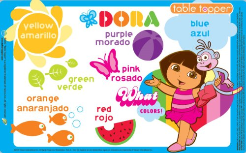 Neat Solutions 50-Ct Dora The Explorer Table Topper Disposable Stick-On Placemats With Reusable Pop-Up Travel Case by Neat Solutions (Image #2)