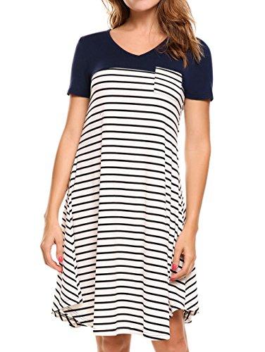 Buy below the knee cotton summer dresses - 3