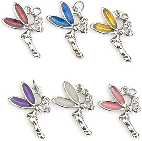 Set of 6 Enamel and Silver Plated Beach Holiday Charms