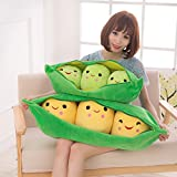 ILPjswu Baby Toys, Cute Pea Pod Plush Toy 3 Pieces Peas-in-a-Pod Plush Pillow Doll Pea Baby Pillow Cute Girl 25cm/40cm/50cm/70cm/90cm