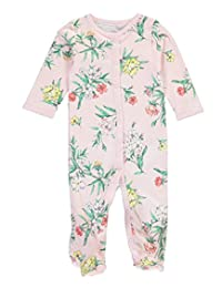 "Carter's Baby Girls' ""Peony Flora"" Footed Coverall"