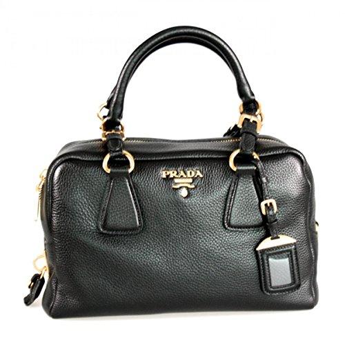 Prada Women's B3091M Black Leather Shoulder Bag