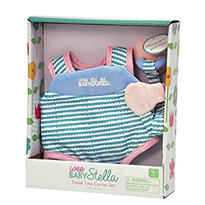 Manhattan Toy Wee Baby Stella Travel Time Carrier Baby Doll Accessories Set for 12