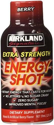 Kirkland Signature Extra Strength Energy Shot Berry, Pomeganate and Grape, 2 oz, 48 Count