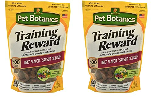 Pet Botanics Training Rewards Mini Treats for Dogs Beef Flavor 20oz Set of Two Pack