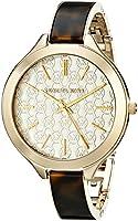 Michael Kors Women's MK4293 Slim Runway Gold-Tone Stainless Steel Watch