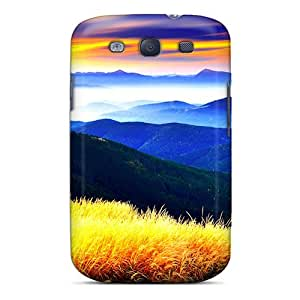 UvIUasM5146BeXeA Anti-scratch Case Cover DaiCMrph Protective Beauty On Mountains Case For Galaxy S3