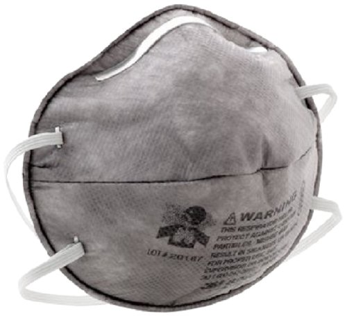 3M 8247 R95 Disposable Particulate Cup Respirator with Nuisance Level Organic Vapor Relief, Standard (6 Boxes of 20)