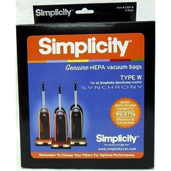 Amazon.com: snh-6 simplicidad Hepa bolsas para medios de ...