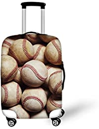 Cool Baseball Printing Travel Luggage Suitcase cover Spandex Fit for M Size Suitcase