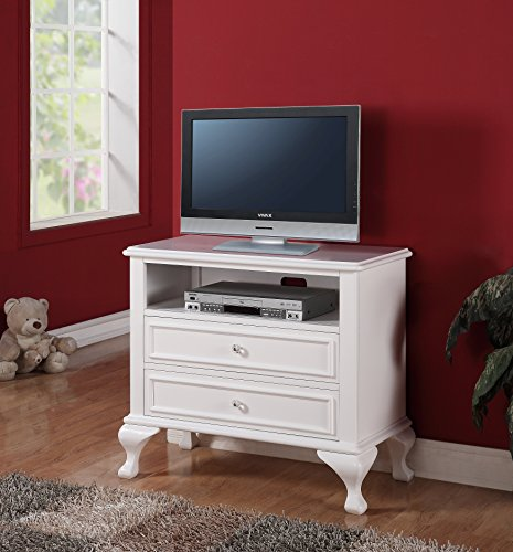 Tv Chest White (Abbey Avenue B-BAI-TV Bailey Media Chest, White)