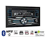 Volunteer Audio Power Acoustik PCD-52B Car Stereo Double Din Radio with Bluetooth, CD Player, USB/AUX