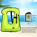 SUNNY LIFE JACKETS Life Jackets Omouboi Unisex Child Inflatable Snorkel Vest Snorkel Jacket Free Diving Safety Jacket Life …