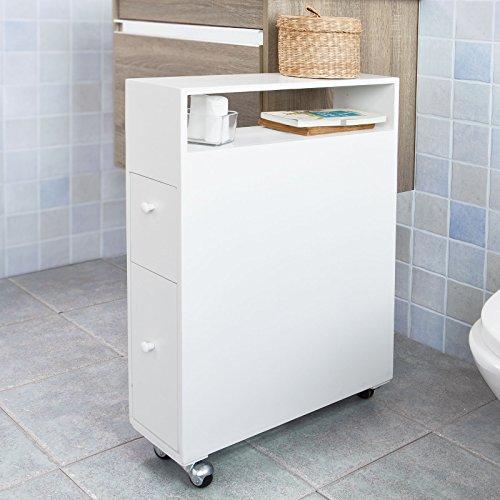 vente sobuy frg51w meuble de rangement roulettes wc On meuble porte wc