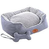 dog bed with removable pillow - PLS BIRDSONG Paradise Bolster Dog Bed with Pillow Gray (Medium, 24Wx30L), Dog Beds for Medium Dogs, Completely Removable Cover with Zipper, Machine Washable