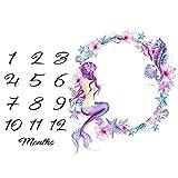 Fashion Newborn Baby Boys Girls Flower Numbers Print Blanket Photo Prop Rug - 1# collectsound