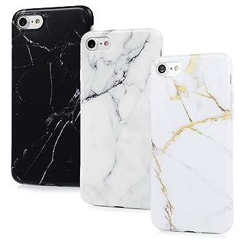 VoguSaNa Carcasa para iPhone 8/iPhone 7, Carcasa de mármol ...