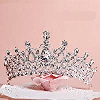 Sunshinesmile Crystal Tiara Coronas Joyas para el cabello Boda de diamantes de imitación Concurso de boda Princesa nupcial