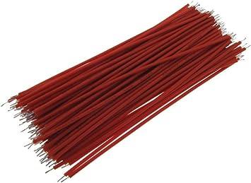 Black 【10CM】 28AWG Standard Jumper Wire Pre-cut Pre-soldered Pack of 100