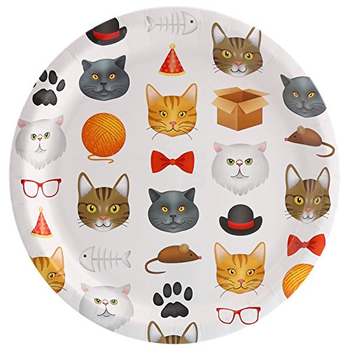 BirthdayExpress Kitty Cats Meow Party Dinner Plate (8)