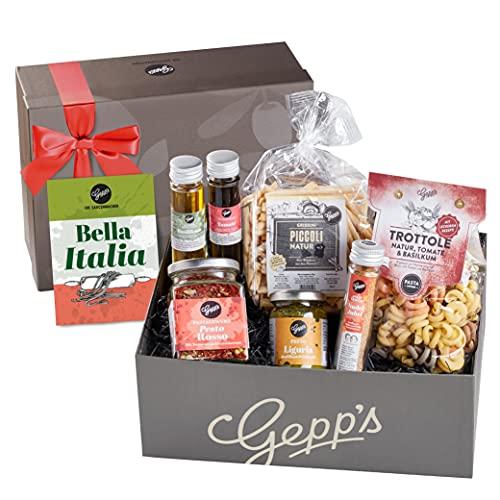 Gepp's Feinkost Bella Italia Geschenkbox I Geschenkkorb für Männer und Frauen I Feinste italienische Delikatessen…
