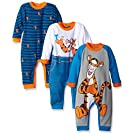Disney Baby Tigger Coveralls, Blue, 6 Months (Pack of 3)