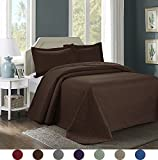 3 Piece Luxurious Comfy Embossed Bedspread Set,Oversized Ultrasonic Thermal Pressing Embossed Coverlet Set,Moderate Weight Bed Spread,JULES(King,Chocolate