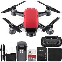 DJI Spark Quadcopter (Lava Red) + DJI Spark Remote + Bag Starter Bundle